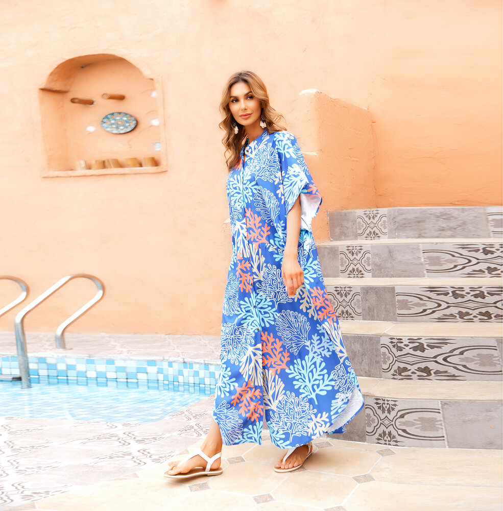 Women's Swim Cover Up Plus Size beach resort maxi dresses,One Size Fit All