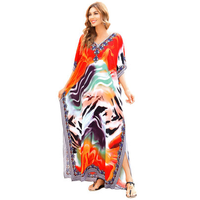 Ladies Bikini Cover Up Plus Size boho summer maxi dresses,Free Size