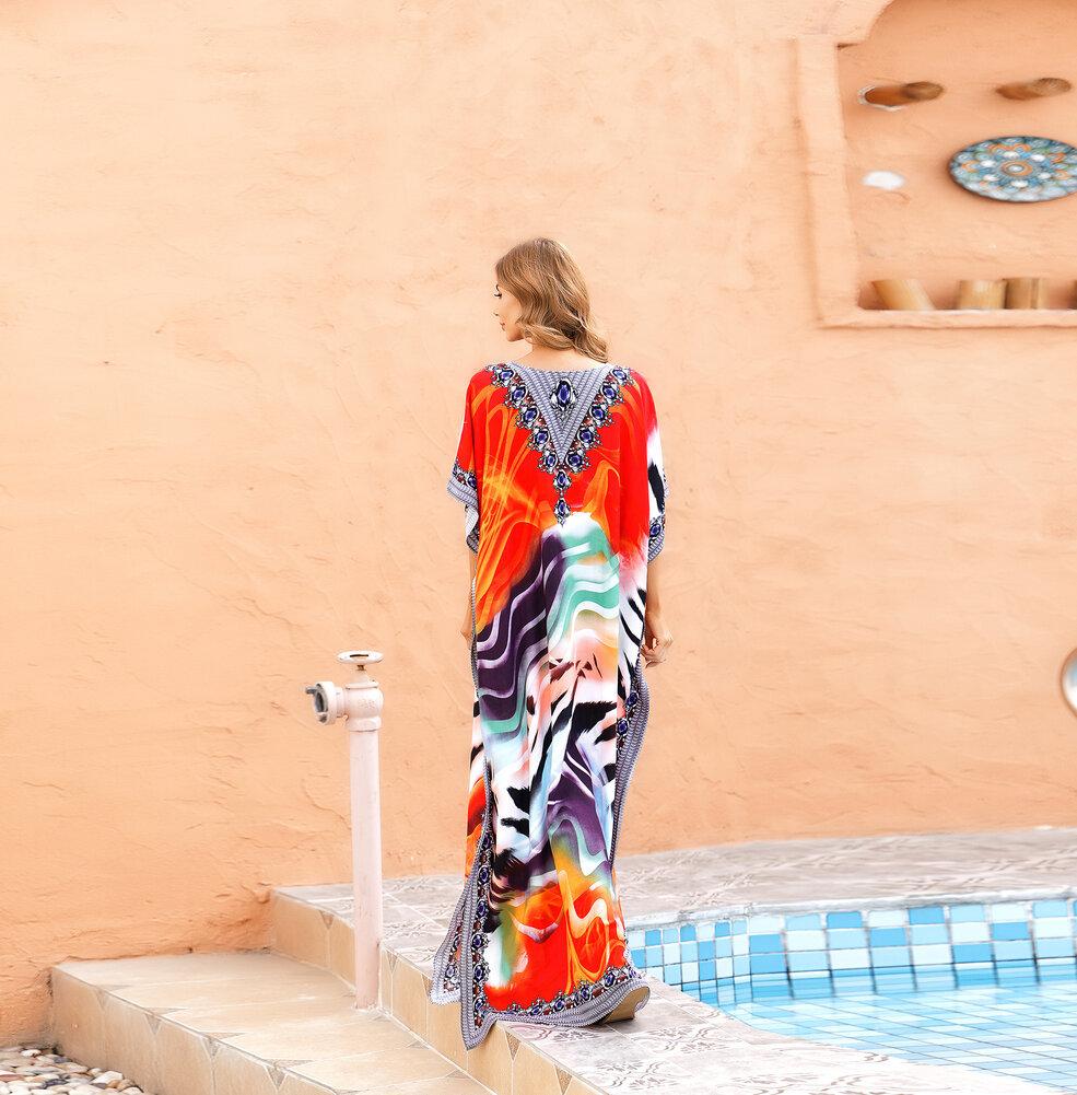 Ladies Swim Cover Up Plus Size boho chic dresses,Free Size