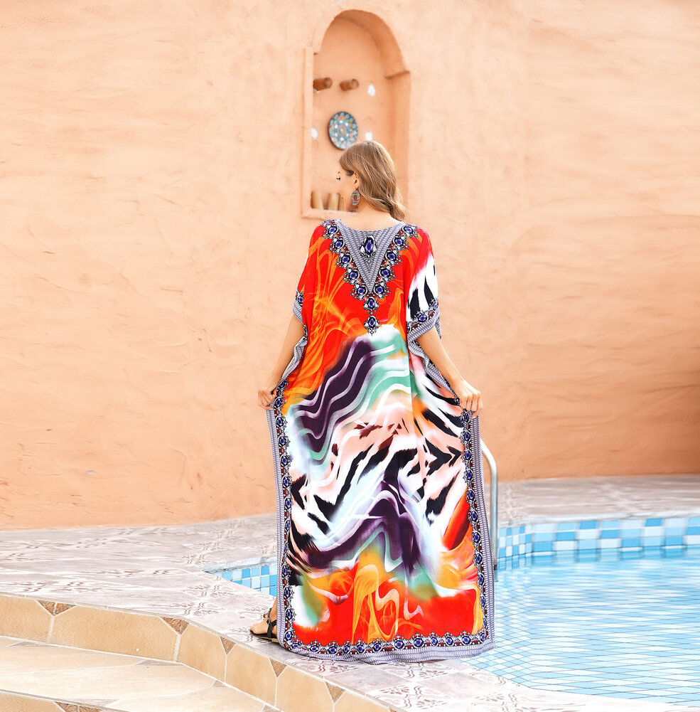 Ladies Beach Cover Up Plus Size boho summer maxi dresses,Free Size
