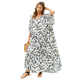 Ladies Beach Cover Up Plus Size Summer Vacation Casual Resort Dresses,One Size Fit All