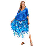 Women's Swim Cover Up Plus Size For Summer Beach Vacation Lightweight summer dresses with sleeves