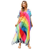 Women's Beach Cover Up Plus Size For Summer Vacation Tie dye bathing suit covers