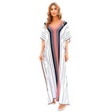 Women's Beach Cover Up Plus Size For Summer Vacation summer dresses with sleeves,Free Size