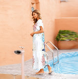 Swimsuit Cover Up For Women's Summer Vacation Resort Dresses Plus Size Beach outfits,Free Size