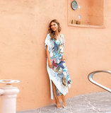Bikini Cover Up For Women's Summer Vacation Resort Dresses Plus Size Beach outfits,Free Size