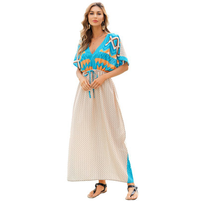 Swim Cover Up For Ladies Summer Vacation dresses and rompers Plus Size Beachwear,Unisize