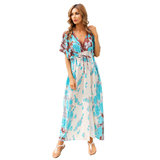Swim Cover Up Women's Summer Vacation Dresses And Rompers Free Size Beachwear