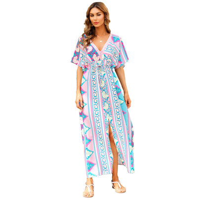 Casual Knee Length Casual Summer Restore Dresses Women's Swim Cover Up