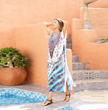 Tie Dye Swim Cover-up Women's Casual Summer Restore Dresses,One Size Fit All
