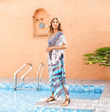 Tie Dye Bikini Cover-up Women's Casual Summer Restore Dresses,One Size Fit All