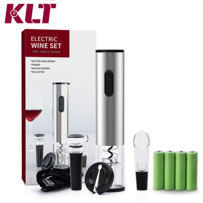 Automatic Electric Wine Opener Battery Powered Corkscrew Gift Set