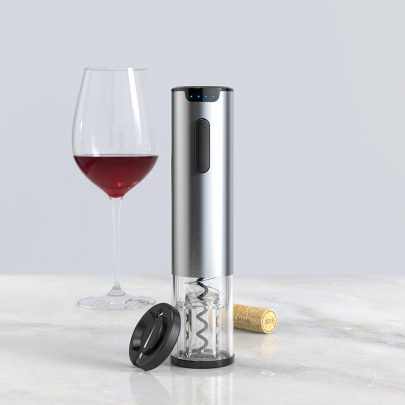 MIni Stainless Steel Rechargeable Automatic Electric Wine Opener Silver