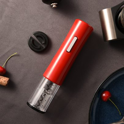 red automatic electric cork remover