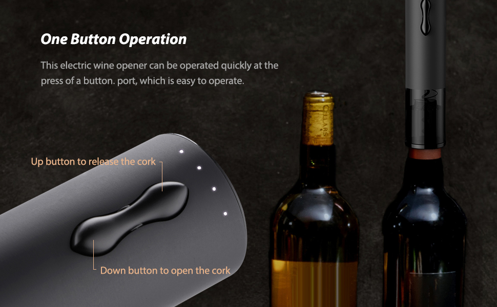 easiest Rechargeable automatic corkscrew