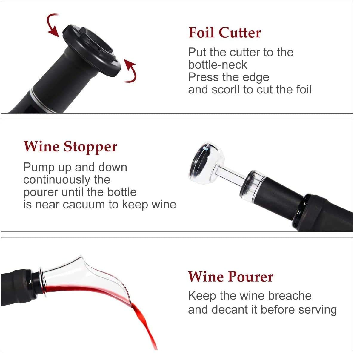 why we need foil cutter - wine stopper - Wine Pourer