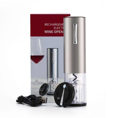 Rechargeable Stainless Steel Electric Wine Opener Sliver