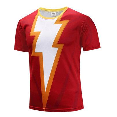 short sleeve superhero flash birthday shirt