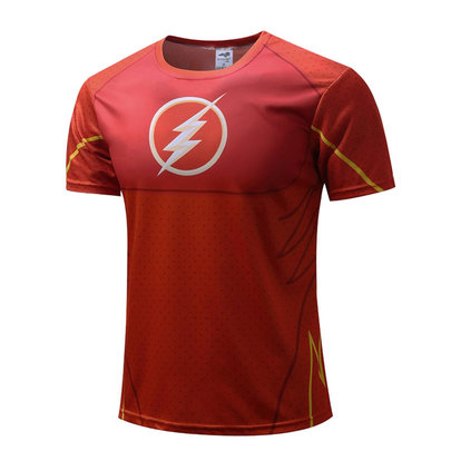 red justice league flash shirt