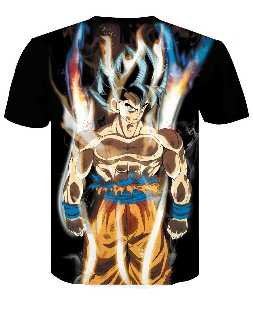 Childrens Dragon Ball Z Shirt Short Sleeve Anime Graphic Tee
