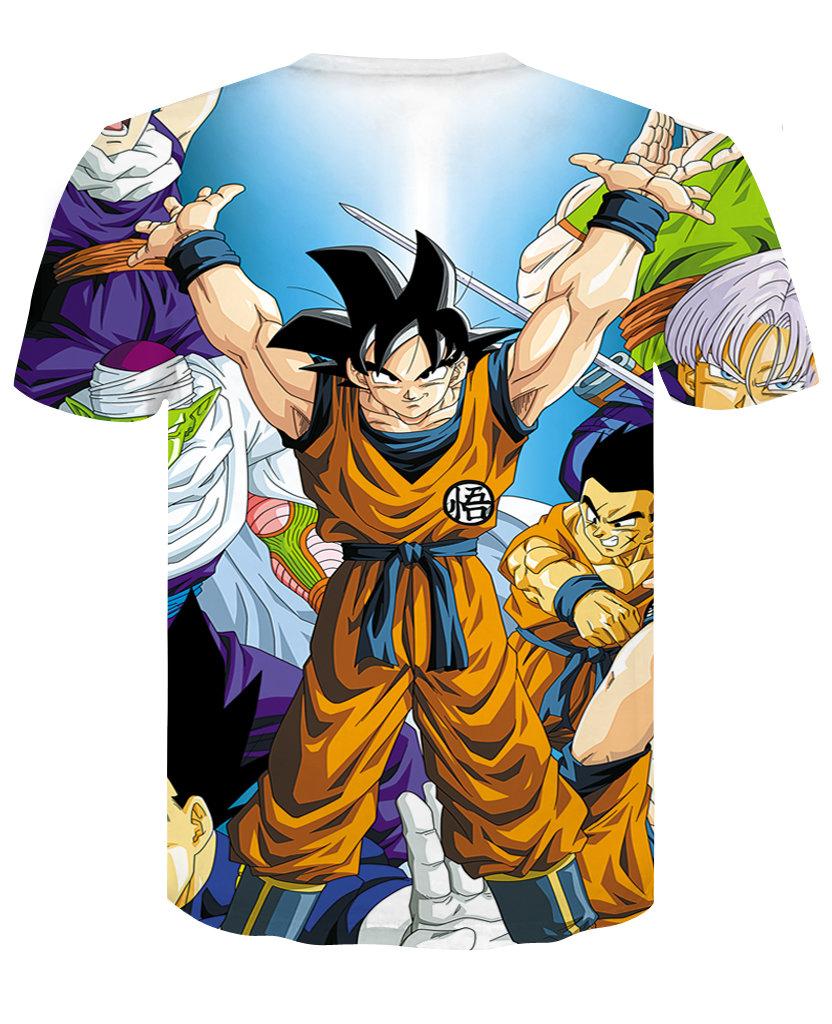 Childrens Anime Dragon Ball Z Shirt Short Sleeve Graphic Tee