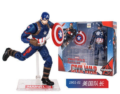Captain America marvel action figures collectibles Toy Doll For Childrens