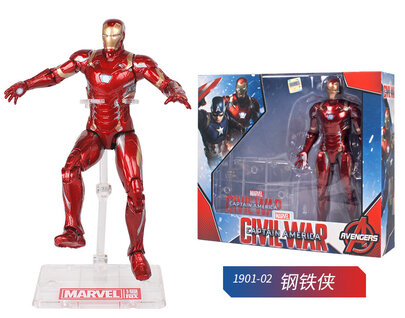 Iron Man Marvel Collectible Die-Cast Action Figure Toy Doll For Childrens