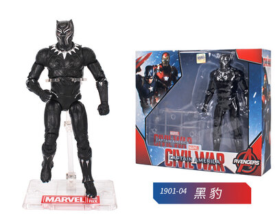 6 Inch Black Panther Civil War Action Figure Toy Doll for children's