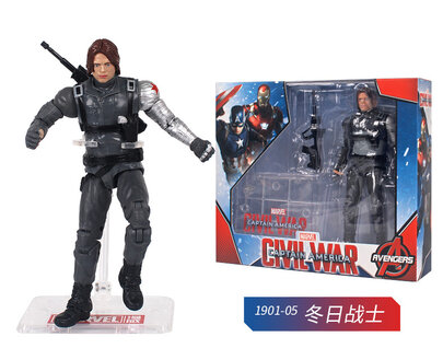 6 Inch Winter Solider Civil War Action Figure Toy Doll