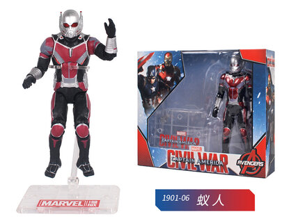 6 Inch Ant Man Civil War Action Figure Toy Doll for children's