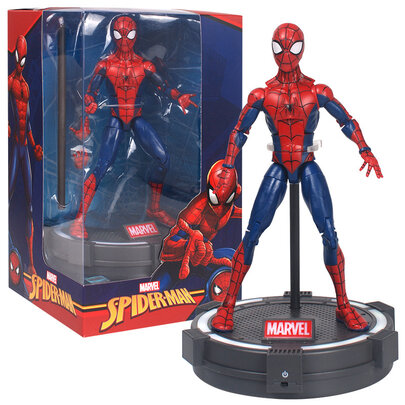 7-inch Marvel Avengers Spider Man Action Figure Toy with Luminous base