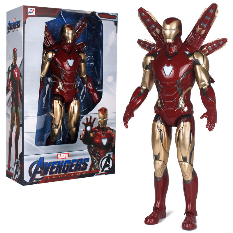 Superhero Red Iron Man Action Figure Toy For Childrens 7-inch