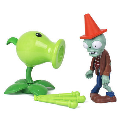 Pea Boomerang Plants VS Zombies PVC Action Figure Toy for kids