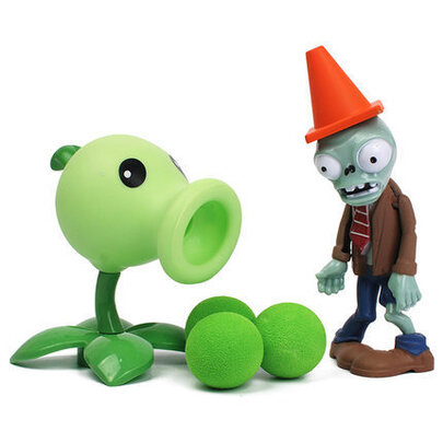 Plants VS Zombies Peashooter Action Figure Toy For Childrens