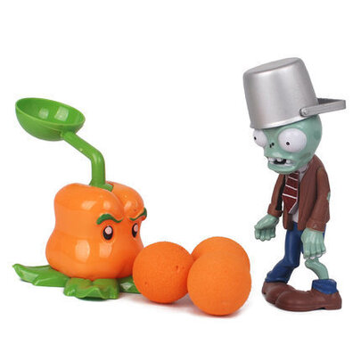 Plants VS Zombies Pepper Pult Action Figure Toy For Childrens