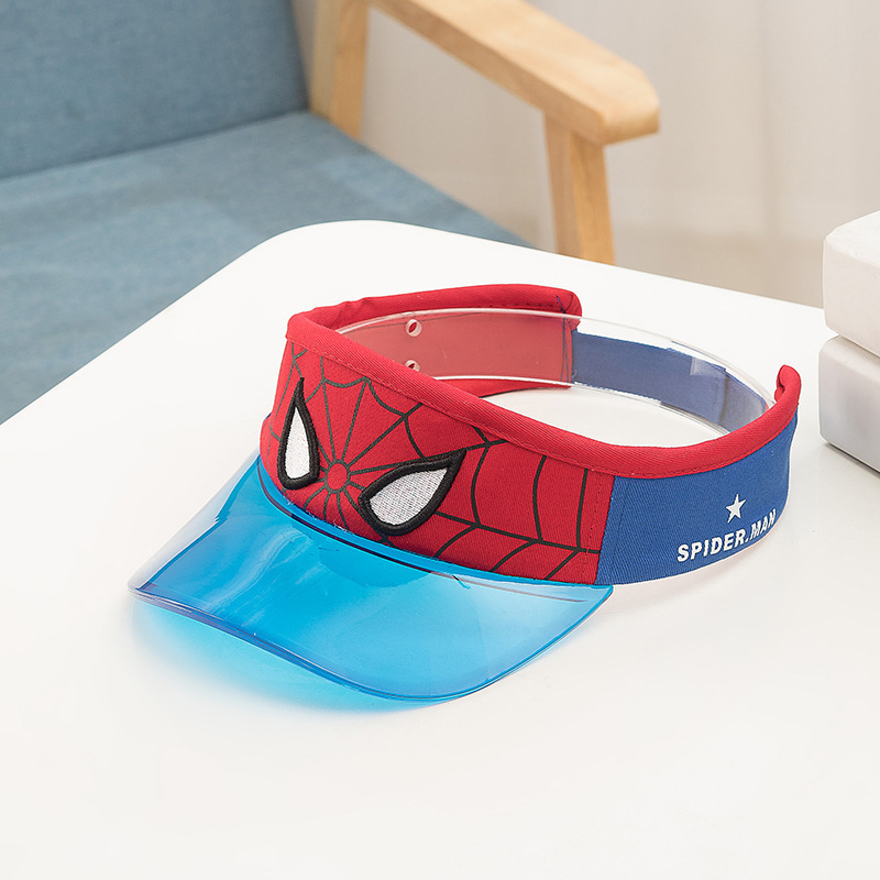 Far From Home Blue Red Wide Brim Sun Visor For Kids - 09