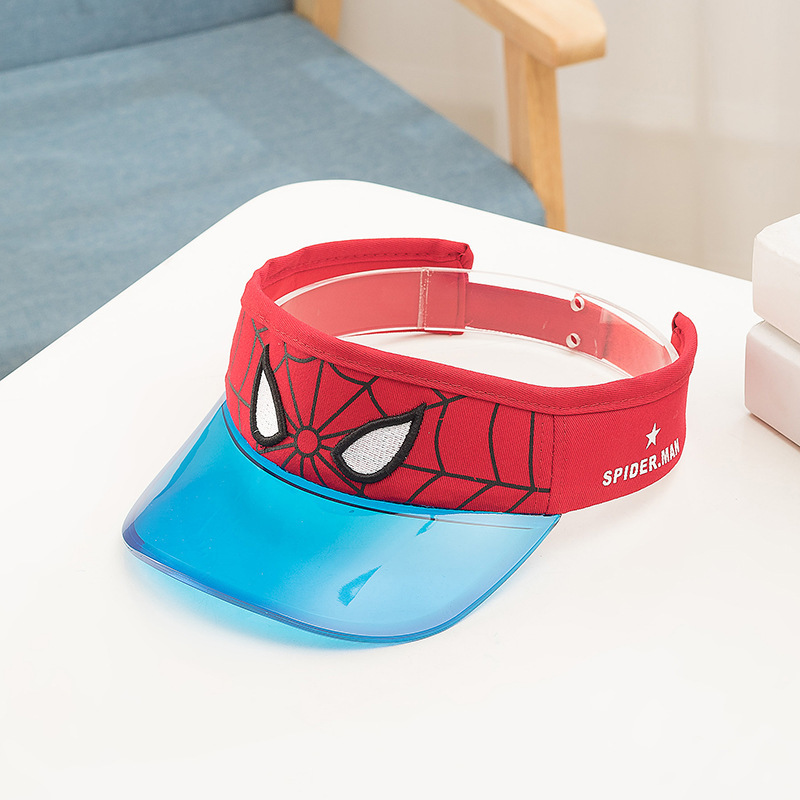 Far From Home Red Wide Brim Sun Visor For Boys - 10