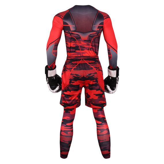 3 In 1 Men's athletic cut suits red