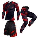 3 in 1 suits for tall skinny guys Black Red