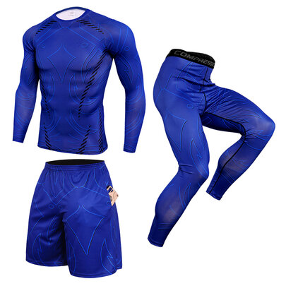 3 in 1 navy blue gym workout suit for mens