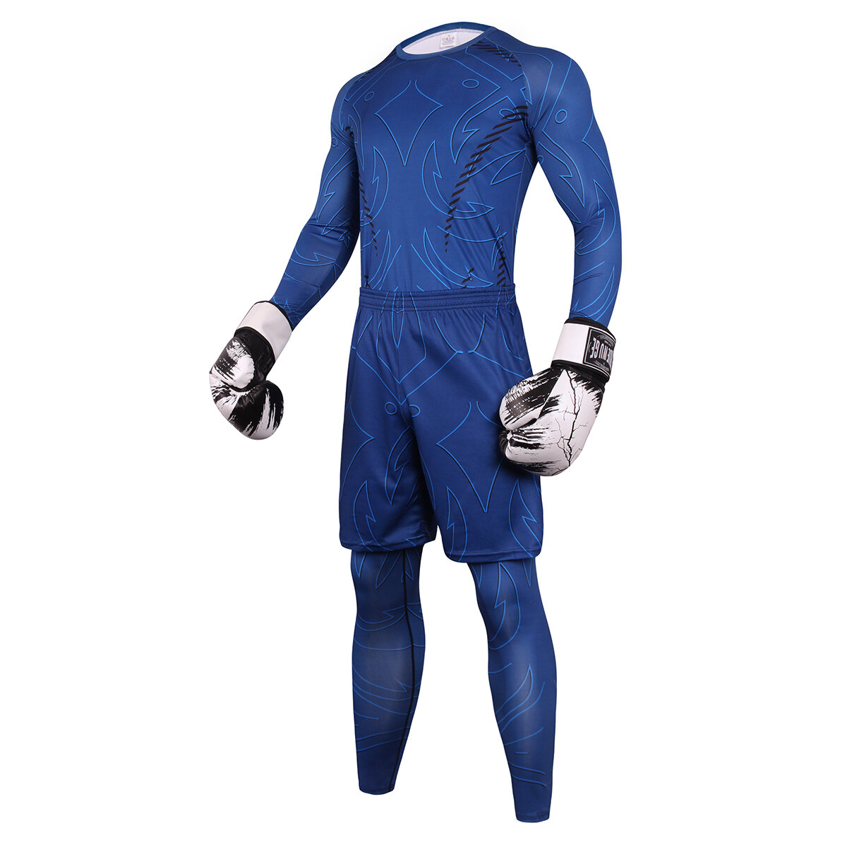 3 in 1 navy blue best stretch suit for guys