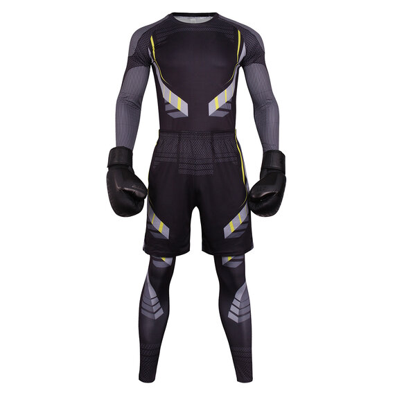 3 in 1 men tight suit black cycling jersey