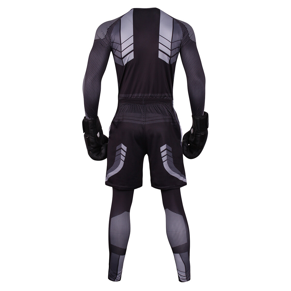 3 in 1 Black basketball exercise sweat suit for mens