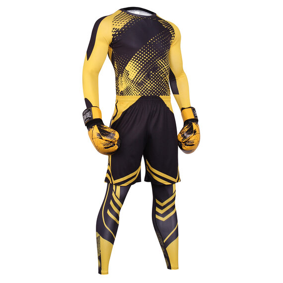 3 in 1 Mens Yellow fitness sweat suits