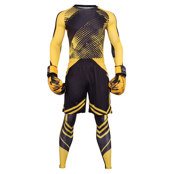 3 in 1 Mens slim stretch suit Yellow