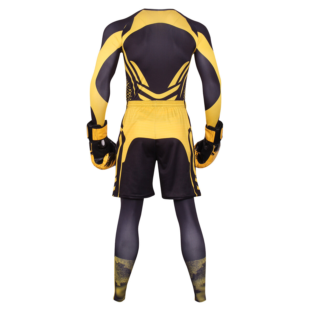 3 in 1 exercise suit for mens yellow