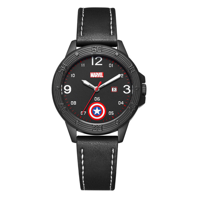 Captain America Marvel Wrist Watch Black For Students