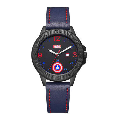 Blue Captain America Marvel Wrist Watch With Adjustable Strap
