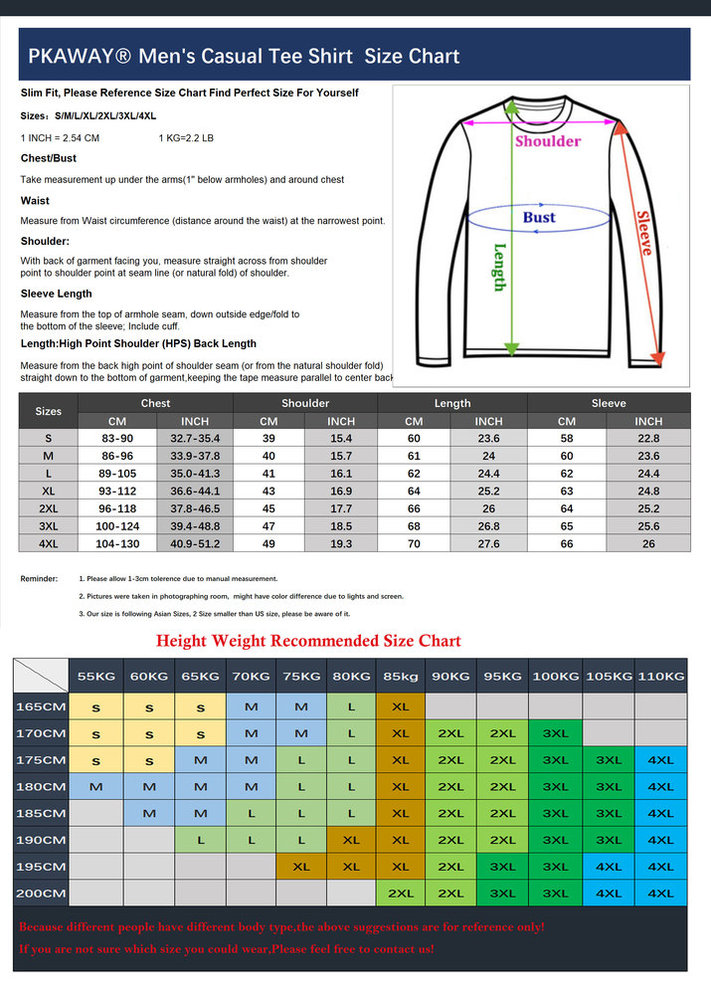 long sleeve superheros halloween costume size chart